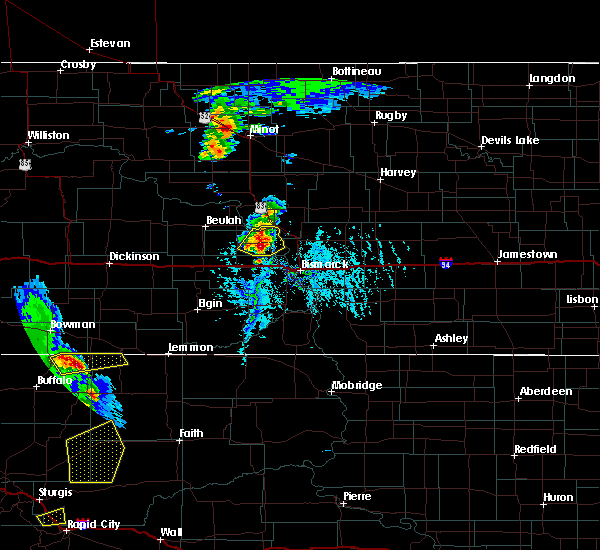 Radar Image for Severe Thunderstorms near Bucyrus, ND at 6/28/2020 6:19 PM MDT