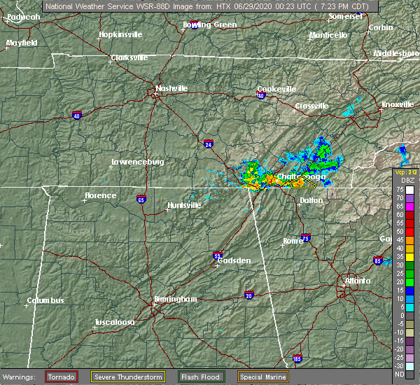 Radar Image for Severe Thunderstorms near Collegedale, TN at 6/28/2020 8:30 PM EDT