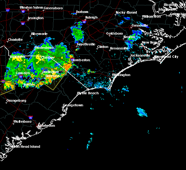 Radar Image for Severe Thunderstorms near Florence, SC at 6/28/2020 8:33 PM EDT