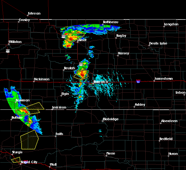 Radar Image for Severe Thunderstorms near Bucyrus, ND at 6/28/2020 6:35 PM MDT