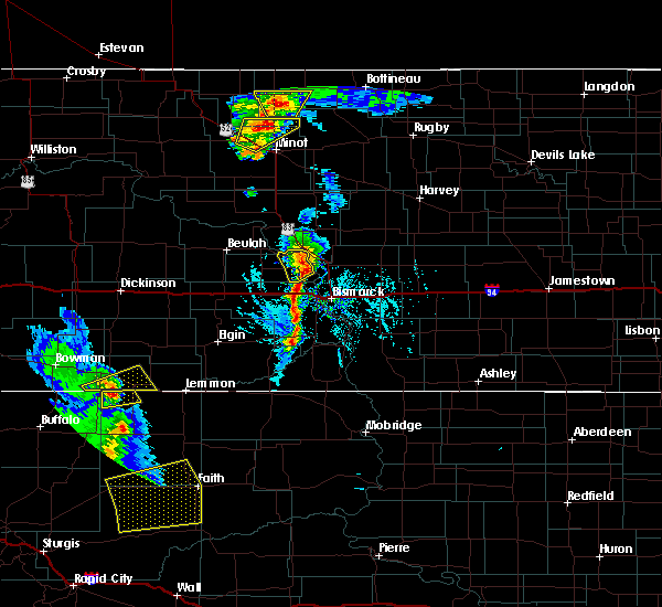 Radar Image for Severe Thunderstorms near Bucyrus, ND at 6/28/2020 6:48 PM MDT