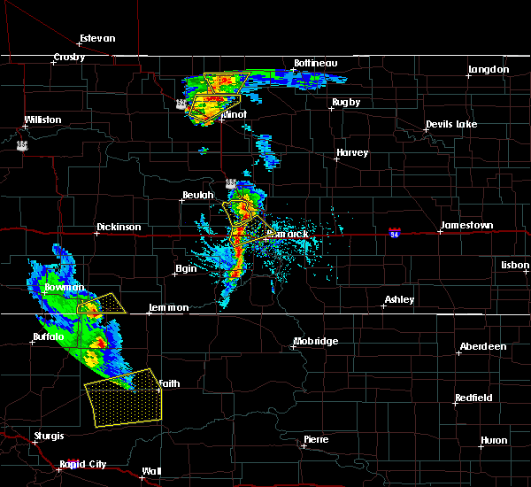 Radar Image for Severe Thunderstorms near Lincoln, ND at 6/28/2020 7:53 PM CDT
