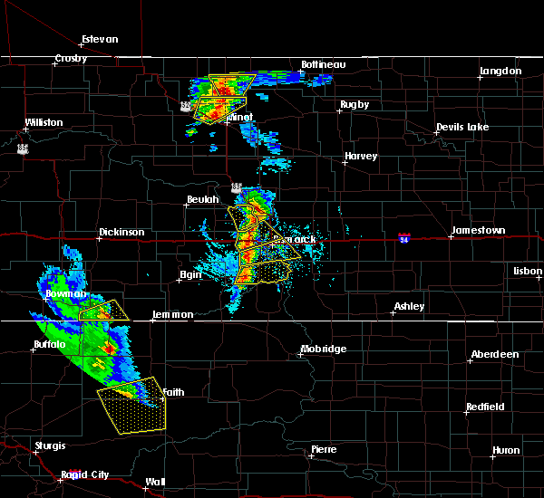 Radar Image for Severe Thunderstorms near Bucyrus, ND at 6/28/2020 6:59 PM MDT