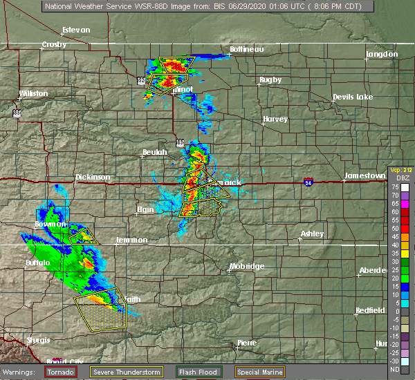 Radar Image for Severe Thunderstorms near Solen, ND at 6/28/2020 8:10 PM CDT