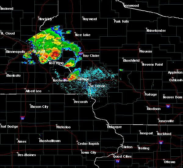 Radar Image for Severe Thunderstorms near Minnesota City, MN at 6/28/2020 8:15 PM CDT