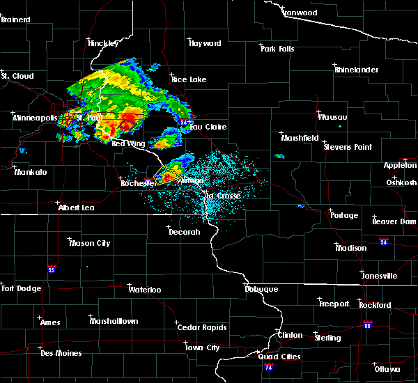 Radar Image for Severe Thunderstorms near Minnesota City, MN at 6/28/2020 8:23 PM CDT