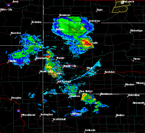 Radar Image for Severe Thunderstorms near Dupree, SD at 6/28/2020 7:31 PM MDT