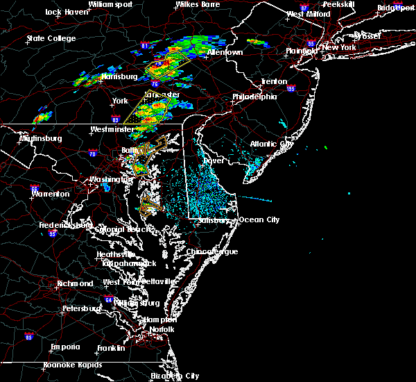 Radar Image for Severe Thunderstorms near Lampeter, PA at 6/30/2015 1:38 PM EDT