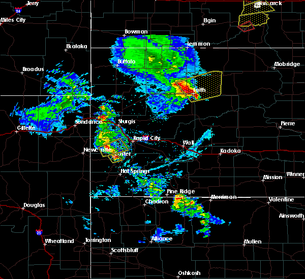 Radar Image for Severe Thunderstorms near Dupree, SD at 6/28/2020 7:39 PM MDT