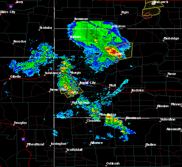 Radar Image for Severe Thunderstorms near Dupree, SD at 6/28/2020 7:47 PM MDT