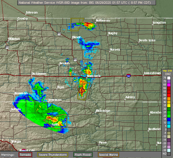 Radar Image for Severe Thunderstorms near Solen, ND at 6/28/2020 9:02 PM CDT