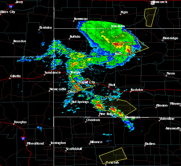 Radar Image for Severe Thunderstorms near Colonial Pine Hills, SD at 6/28/2020 8:14 PM MDT