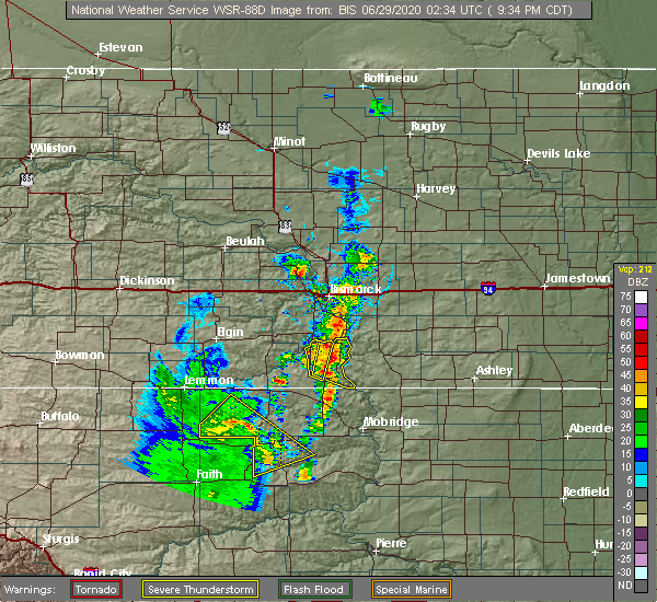 Radar Image for Severe Thunderstorms near Green Grass, SD at 6/28/2020 8:41 PM MDT