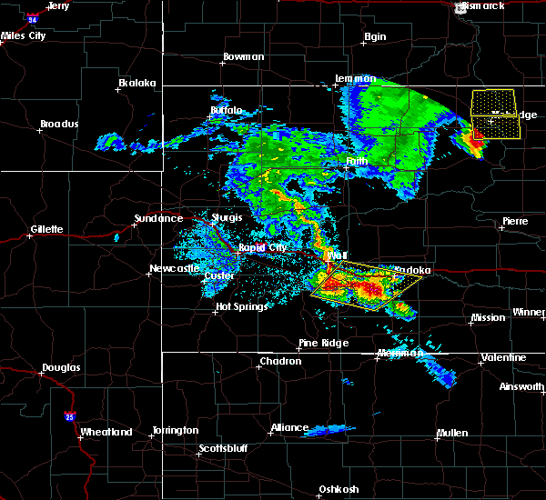 Radar Image for Severe Thunderstorms near Cottonwood, SD at 6/28/2020 9:17 PM MDT