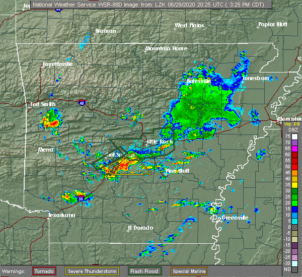 Radar Image for Severe Thunderstorms near Midway, AR at 6/29/2020 3:31 PM CDT