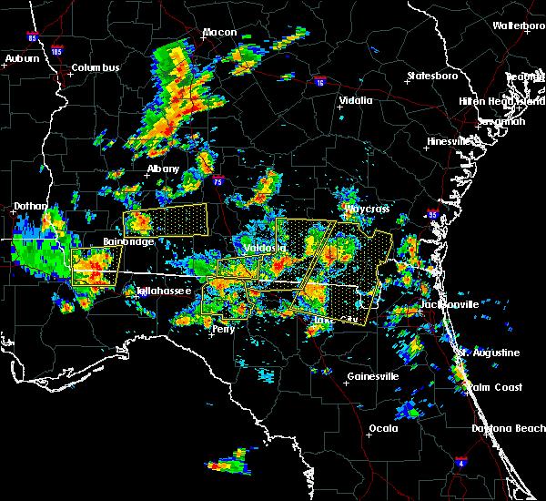 Radar Image for Severe Thunderstorms near Valdosta, GA at 6/30/2015 1:44 PM EDT