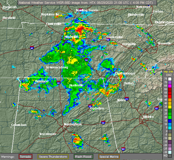 Radar Image for Severe Thunderstorms near Chattanooga, TN at 6/29/2020 5:12 PM EDT