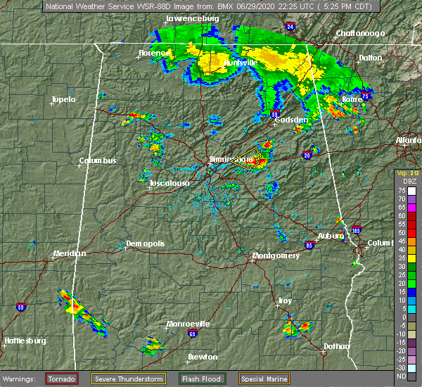 Radar Image for Severe Thunderstorms near Pell City, AL at 6/29/2020 5:31 PM CDT