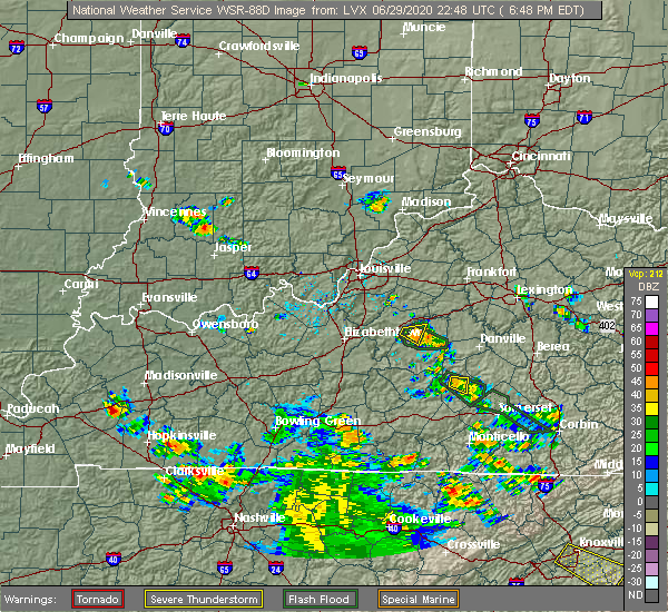 Radar Image for Severe Thunderstorms near Liberty, KY at 6/29/2020 6:52 PM EDT