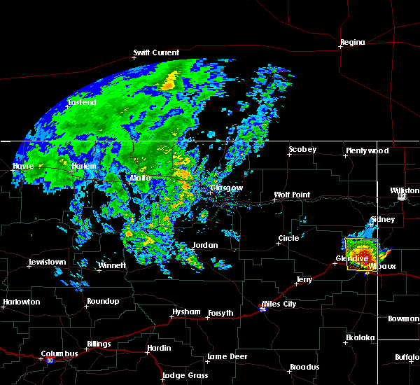 Radar Image for Severe Thunderstorms near Alexander, ND at 6/29/2020 5:53 PM CDT