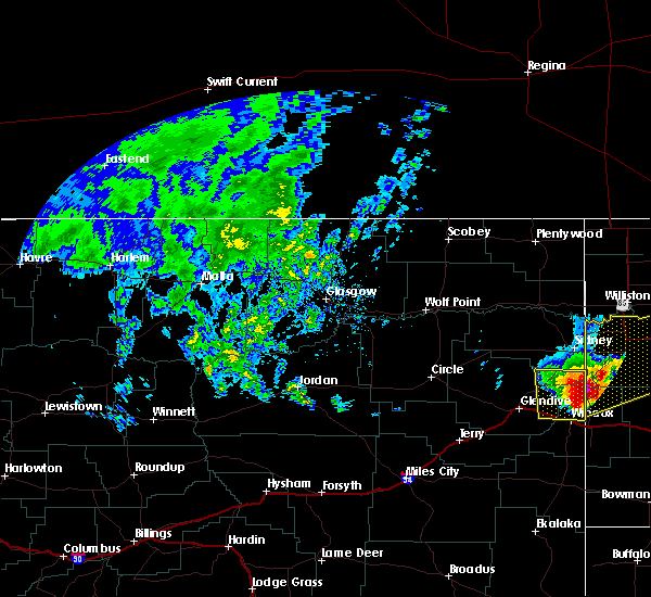 Radar Image for Severe Thunderstorms near Alexander, ND at 6/29/2020 6:10 PM CDT