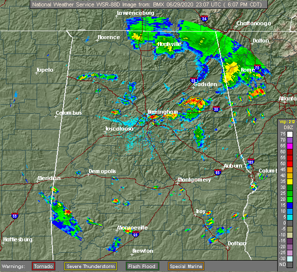 Radar Image for Severe Thunderstorms near Westover, AL at 6/29/2020 6:13 PM CDT