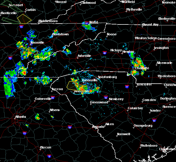 Radar Image for Severe Thunderstorms near Donalds, SC at 6/29/2020 7:25 PM EDT