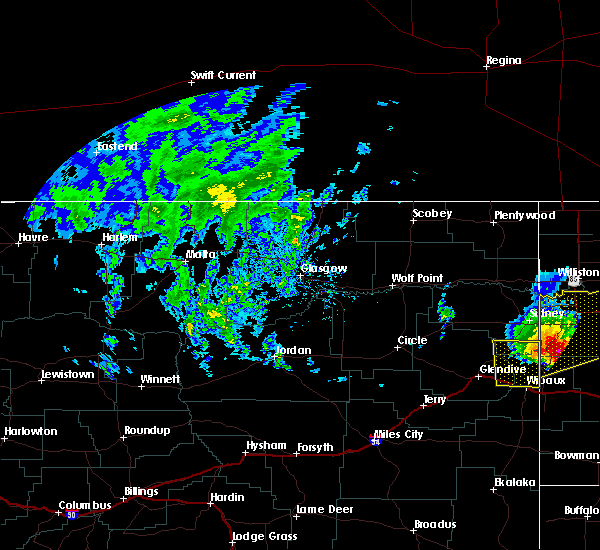 Radar Image for Severe Thunderstorms near Alexander, ND at 6/29/2020 6:26 PM CDT