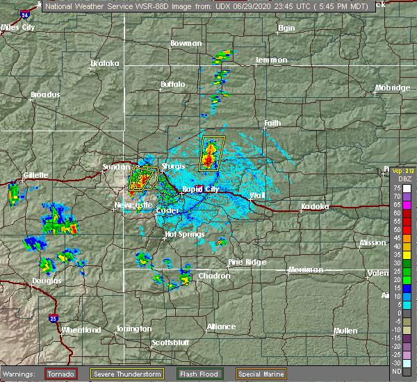 Radar Image for Severe Thunderstorms near Deadwood, SD at 6/29/2020 5:47 PM MDT