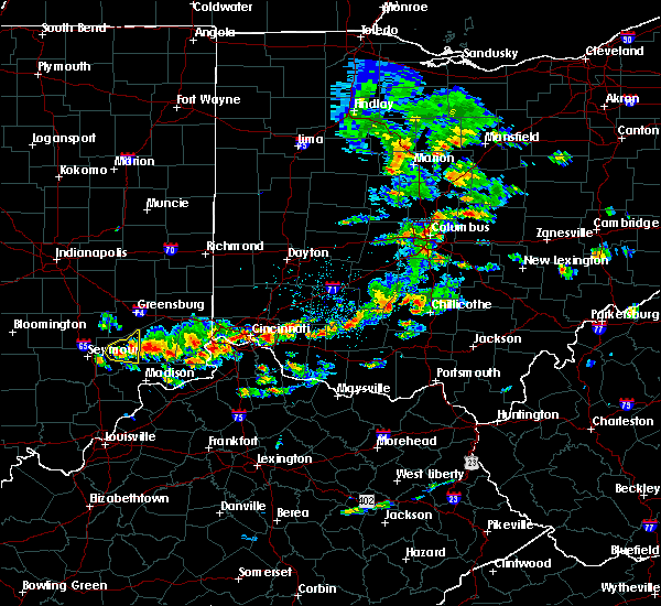 Radar Image for Severe Thunderstorms near Cincinnati, OH at 6/30/2015 1:58 PM EDT