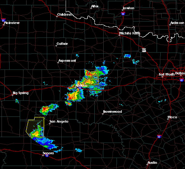 Radar Image for Severe Thunderstorms near Lawn, TX at 6/29/2020 7:42 PM CDT