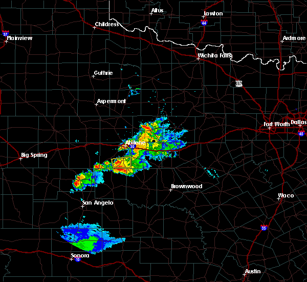 Radar Image for Severe Thunderstorms near Lawn, TX at 6/29/2020 8:16 PM CDT