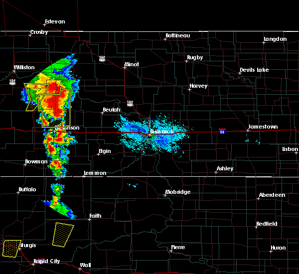 Radar Image for Severe Thunderstorms near New England, ND at 6/29/2020 7:18 PM MDT