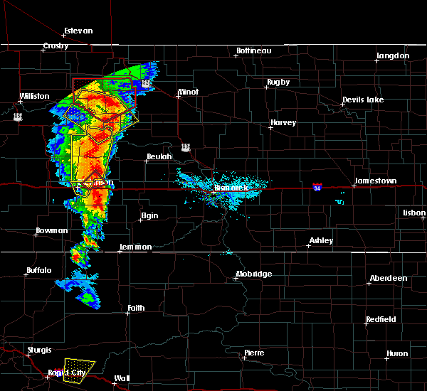Radar Image for Severe Thunderstorms near Taylor, ND at 6/29/2020 8:09 PM MDT