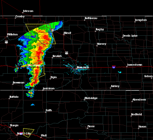 Radar Image for Severe Thunderstorms near Richardton, ND at 6/29/2020 8:42 PM MDT