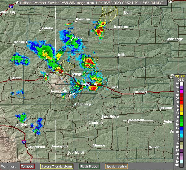 Radar Image for Severe Thunderstorms near Fruitdale, SD at 6/29/2020 8:56 PM MDT