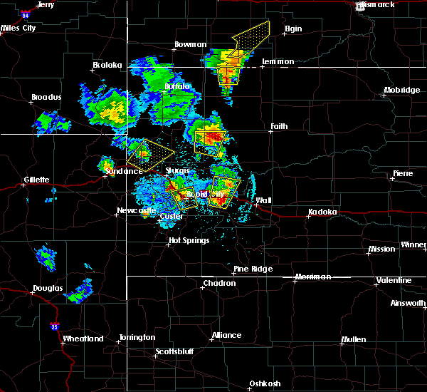 Radar Image for Severe Thunderstorms near Blackhawk, SD at 6/29/2020 9:16 PM MDT