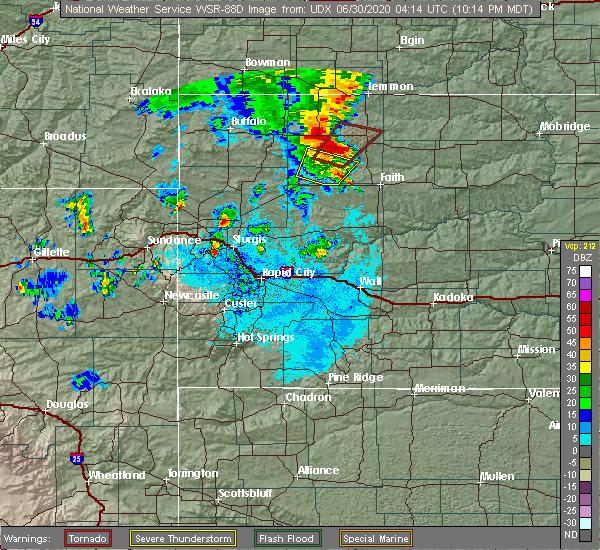 Radar Image for Severe Thunderstorms near Bison, SD at 6/29/2020 10:20 PM MDT