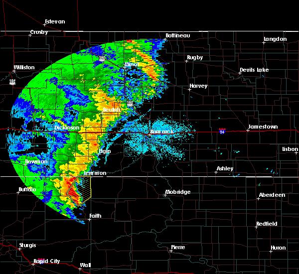 Radar Image for Severe Thunderstorms near Lemmon, SD at 6/29/2020 10:46 PM MDT