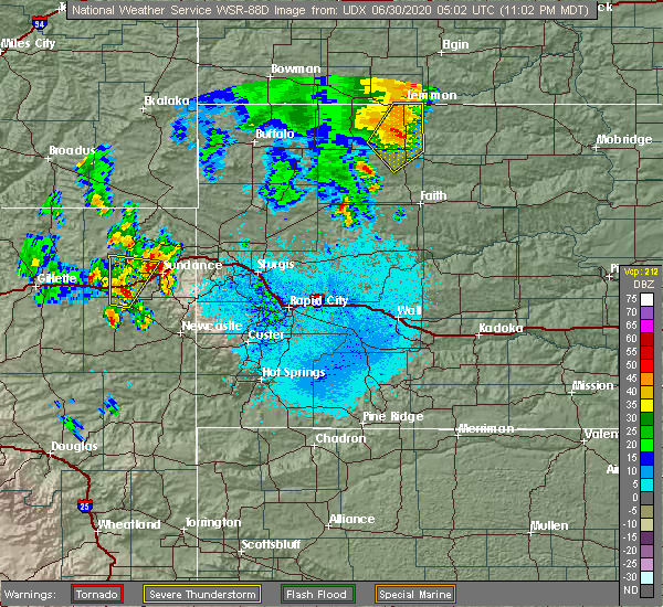 Radar Image for Severe Thunderstorms near Pine Haven, WY at 6/29/2020 11:07 PM MDT