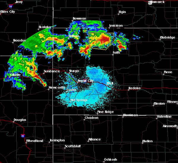 Radar Image for Severe Thunderstorms near Bison, SD at 6/30/2020 1:22 AM MDT