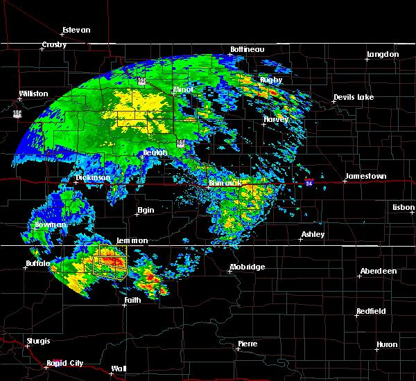 Radar Image for Severe Thunderstorms near Lemmon, SD at 6/30/2020 1:53 AM MDT