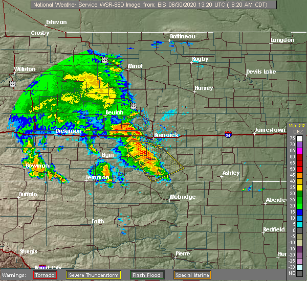 Radar Image for Severe Thunderstorms near Solen, ND at 6/30/2020 8:23 AM CDT