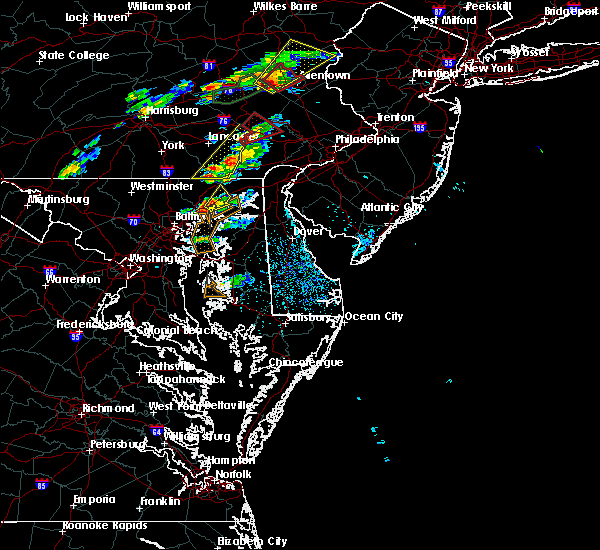 Radar Image for Severe Thunderstorms near Riverside, MD at 6/30/2015 2:22 PM EDT