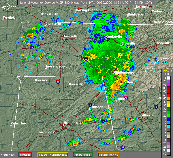 Radar Image for Severe Thunderstorms near Calhoun, GA at 6/30/2020 2:41 PM EDT
