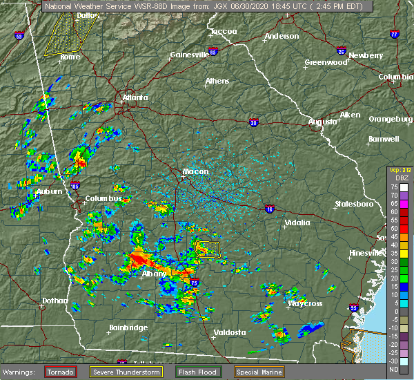 Radar Image for Severe Thunderstorms near Rhine, GA at 6/30/2020 2:52 PM EDT