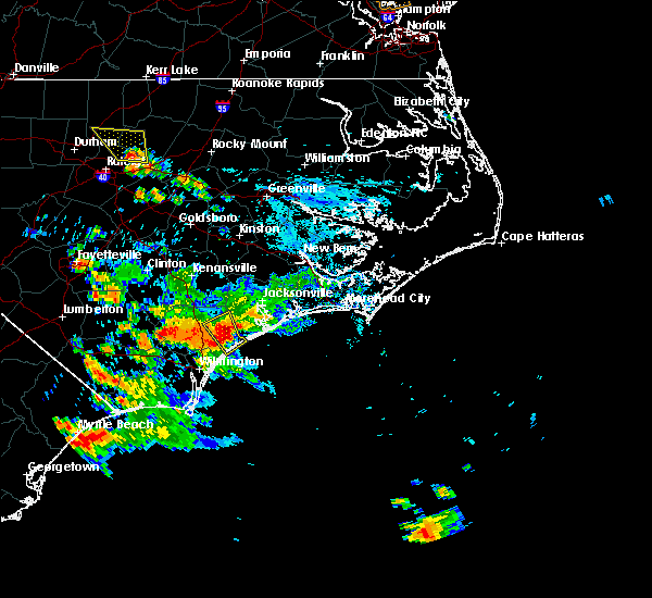 Radar Image for Severe Thunderstorms near Surf City, NC at 6/30/2020 3:09 PM EDT