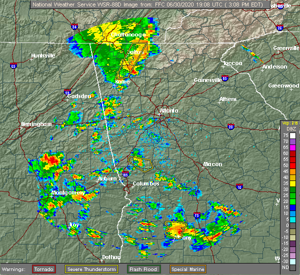 Radar Image for Severe Thunderstorms near Shiloh, GA at 6/30/2020 3:15 PM EDT