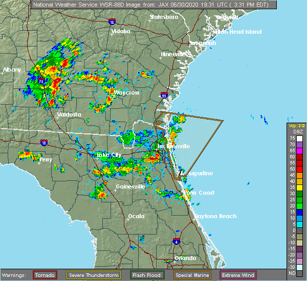 Radar Image for Severe Thunderstorms near World Golf Village, FL at 6/30/2020 3:34 PM EDT