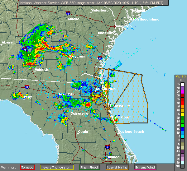 Radar Image for Severe Thunderstorms near World Golf Village, FL at 6/30/2020 3:55 PM EDT